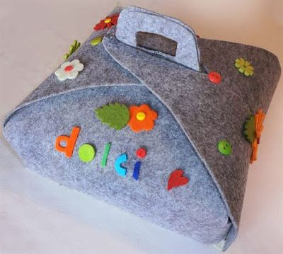 SCICCOSERIE: Porta torte in feltro
