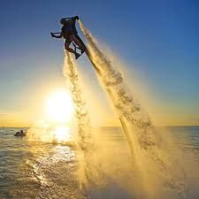 Experience a water jet pack