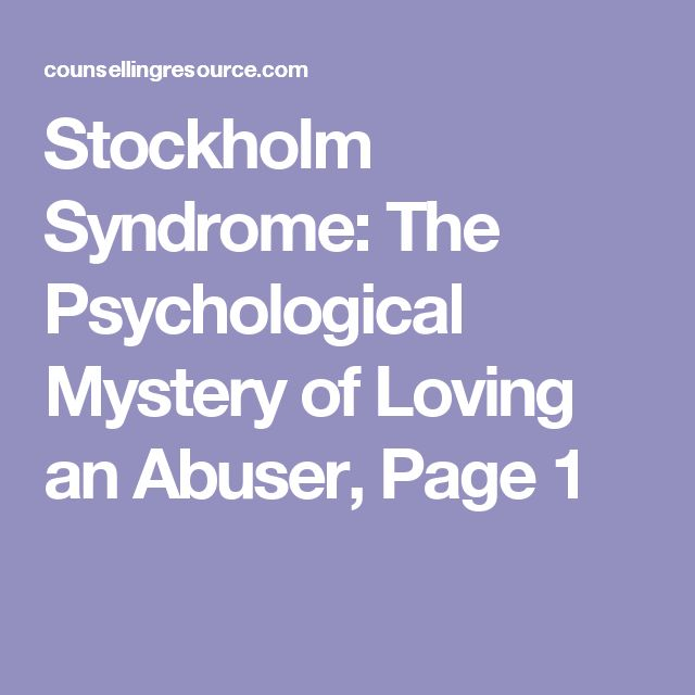 Stockholm Syndrome: The Psychological Mystery of Loving an Abuser, Page 1