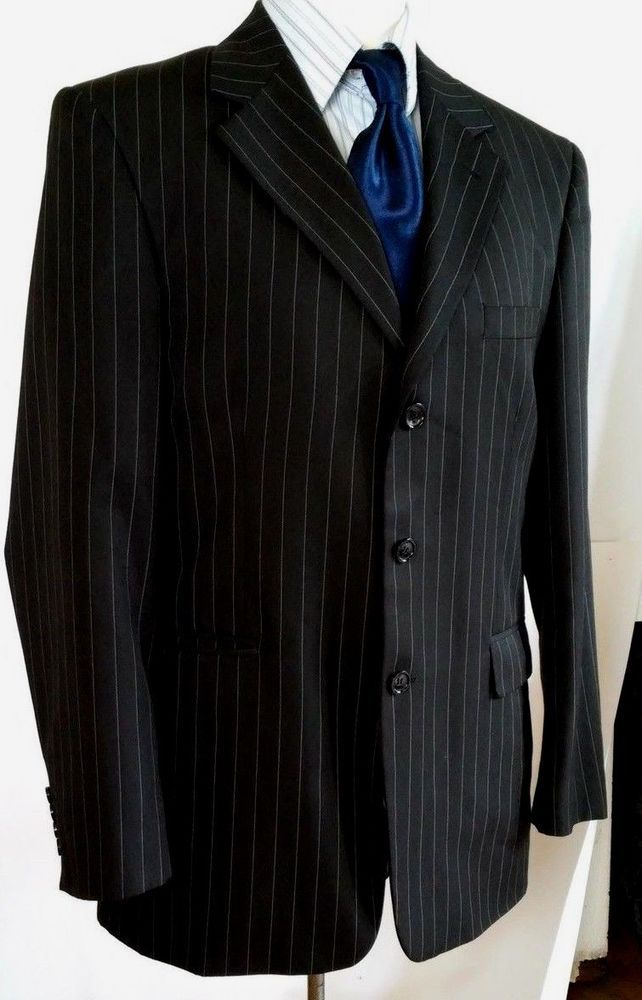 Mens-Hugo-Boss-Movie-Black-Suit-Jacket-Blazer-itali size 52 #HUGOBOSS #BasicJacket