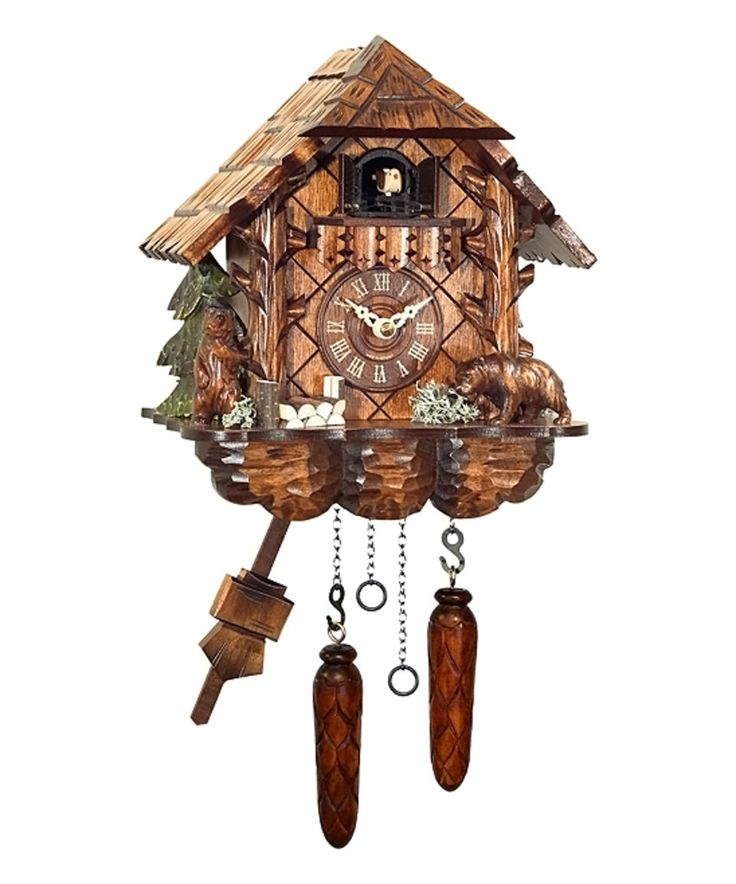 Loving this ENGSTLER | Rustic Chalet & Bear Hand-Carved Musical Quartz Cuckoo Clock on #zulily! #zulilyfinds