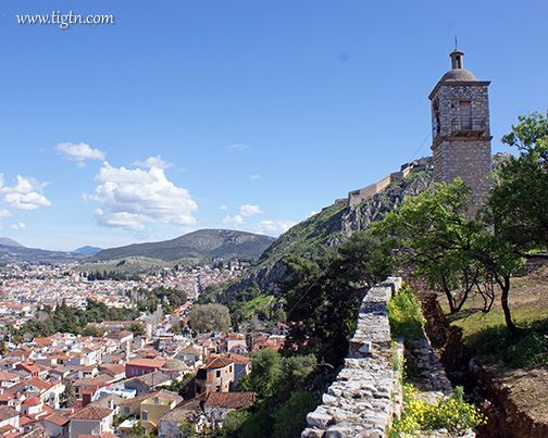 View of #Nafplio from #Akronafplia Castle in the #Peloponnese, #Greece