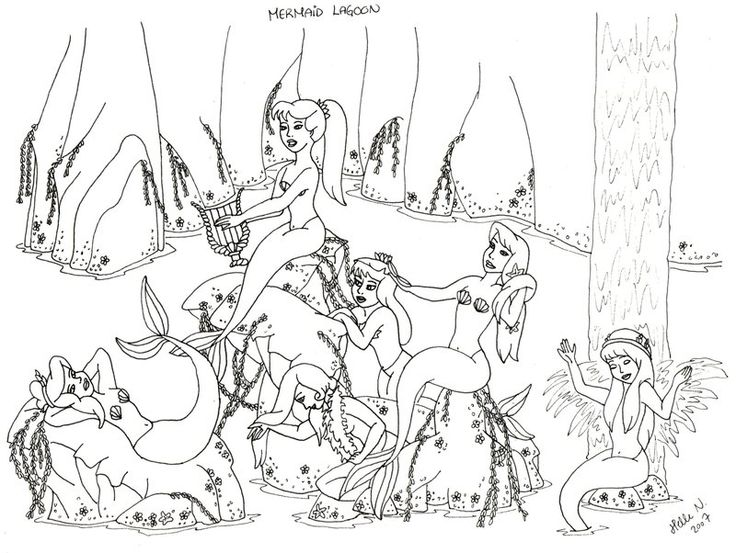 bookmark. les garcons perdus. peter pan mermaids coloring pages ...