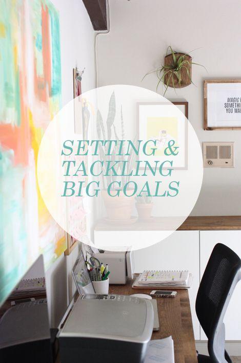 setting and tackling big goals