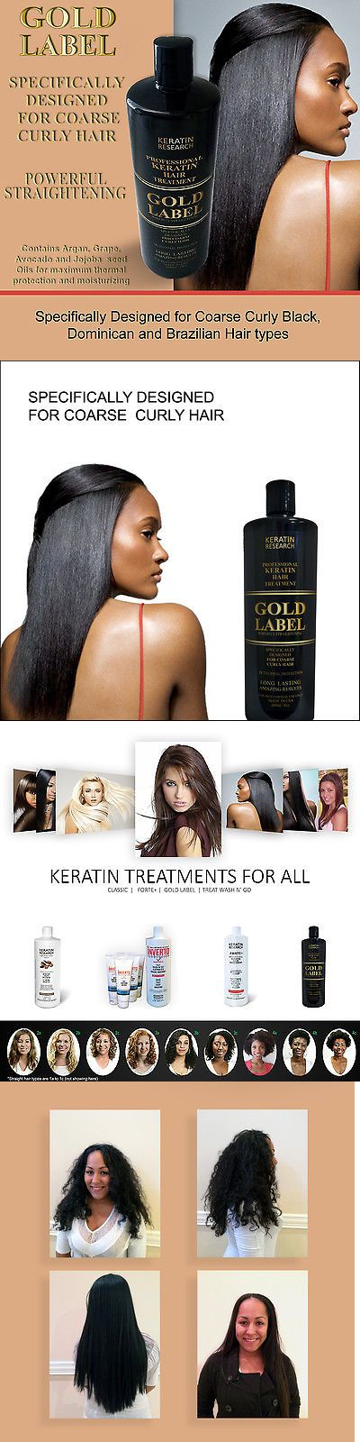 Relaxers and Straightening Prod: Gold Label Keratin Blowout Treatment 240Ml For Dominican And African Hair Us Made BUY IT NOW ONLY: $55.0
