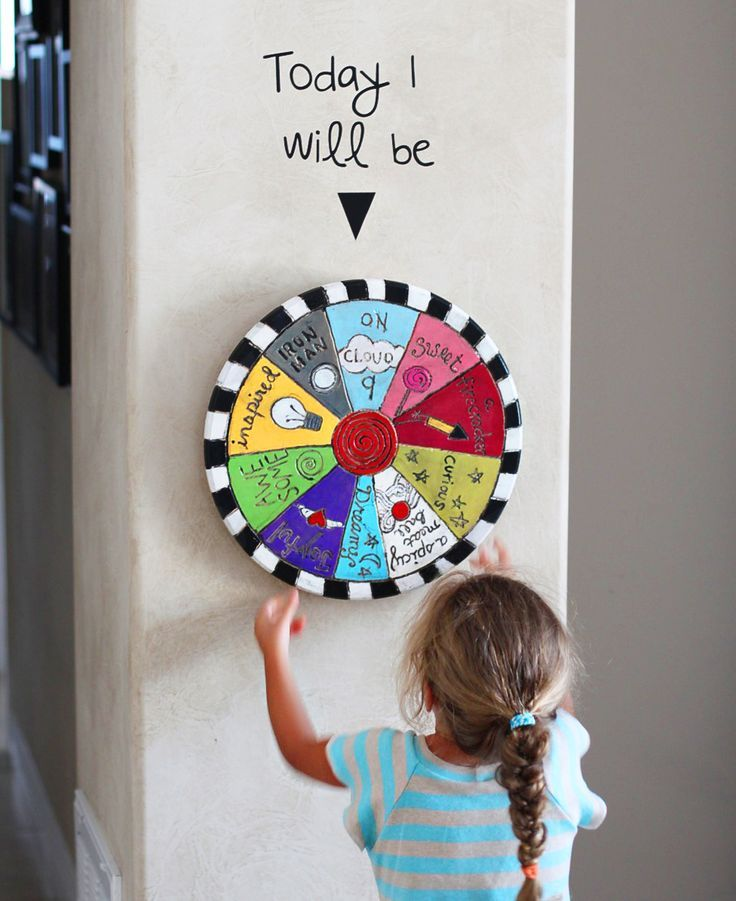 What a cute idea!  I like all the positive statements too!