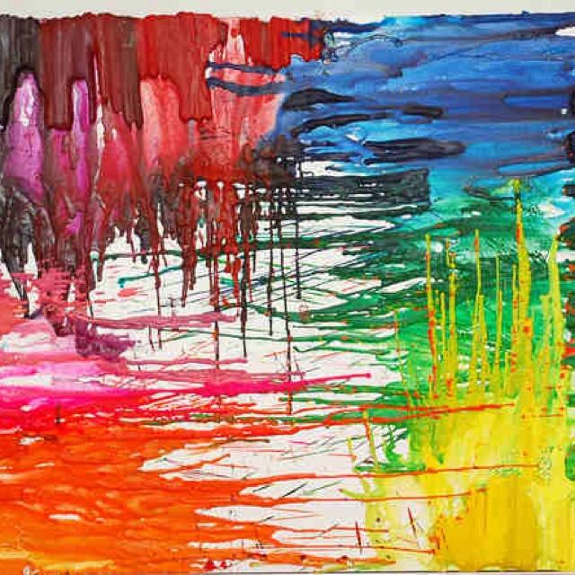 Crayon artCanvas Ideas, Art Crafts, Crayons Wax, Art Ideas, Crayons Art, Crafts Diy, Artists Corner, Diy Stuff, Crayon Art
