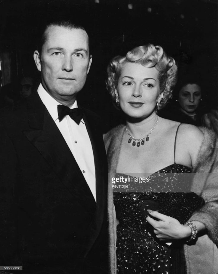 Lana Turner  her millionaire husband, Henry Topping attending a film premiere, Hollywood.