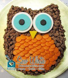 Really Easy Owl Cake | Sew White