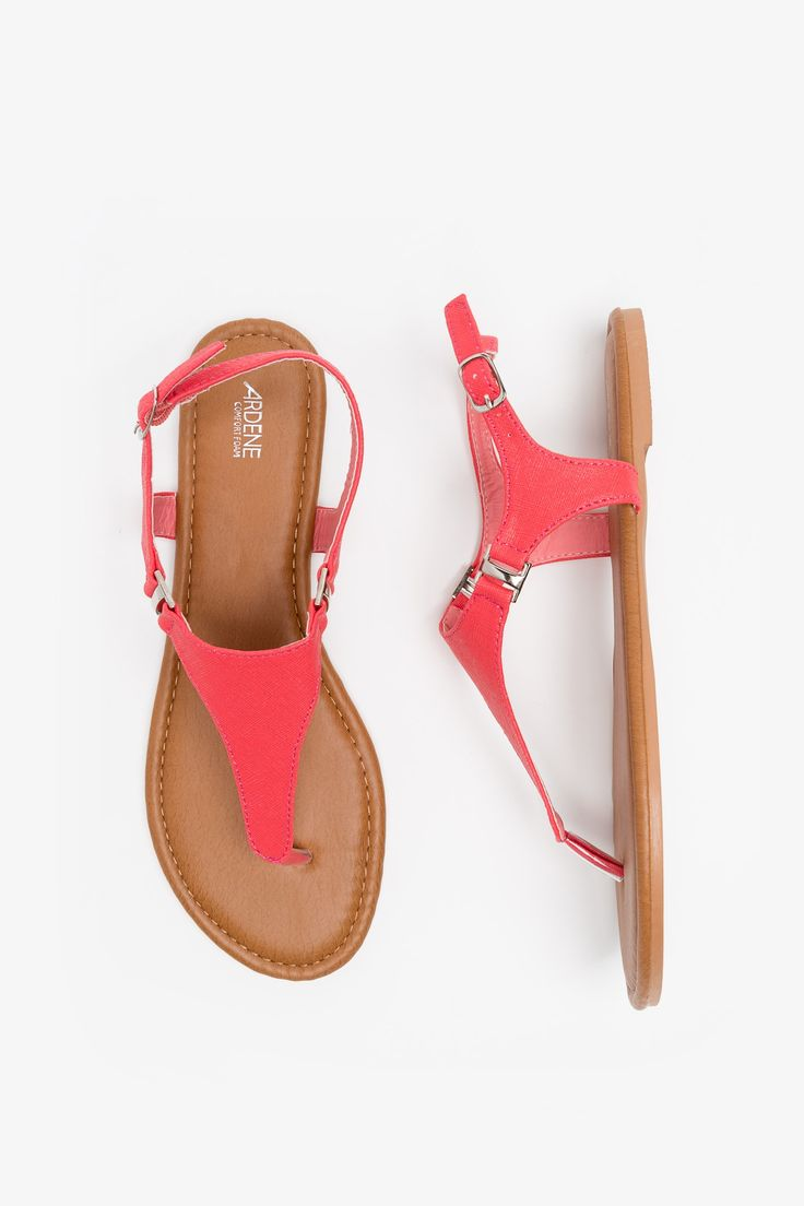 These red t-strap sandals would be super-cute for Canada Day activities.