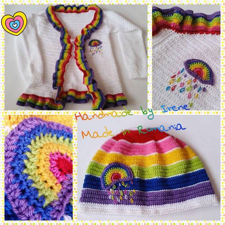 crochet rainbow ser