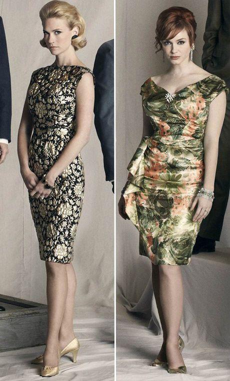 "January Jones and Christina Hendricks - I adore their style in ""Mad men""."