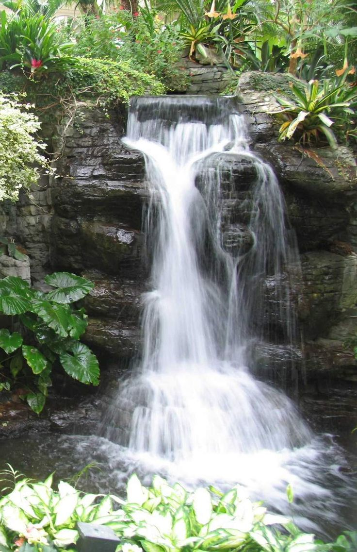 285 best images about pond free waterfalls on pinterest for Garden waterfall design
