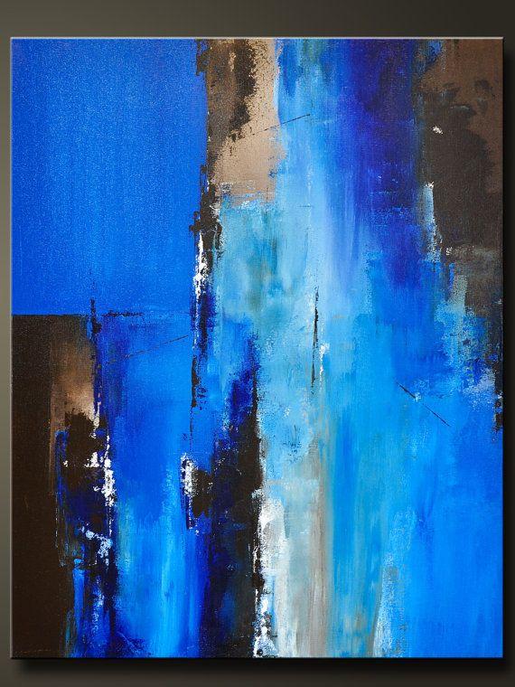 Passage 2    30 « x 24 »    Peinture acrylique sur toile 7/8 abstraite, côtés sont peint en noir, aliment de base libre, prêt à accrocher.    Signé et daté au dos pour permettre à la peinture être accroché verticalement ou horizontalement.    Ce morceau se fait dans les tons terreux magnifiques bleu ciel, bleu de manganèse, bleu cobalt, tan, brun chocolat, noir et blanc. Terminé en vernis brillant pour protéger la peinture contre la poussière et la lumière UV pour les années à venir…