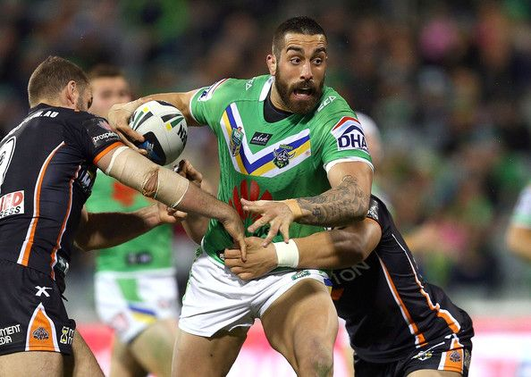 2014 NRL Round 25 Canberra Raiders V Wests Tigers - Paul Vaughan