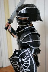 Black Knight Costume (wrnking) Tags: halloween costume cardboard armor knight