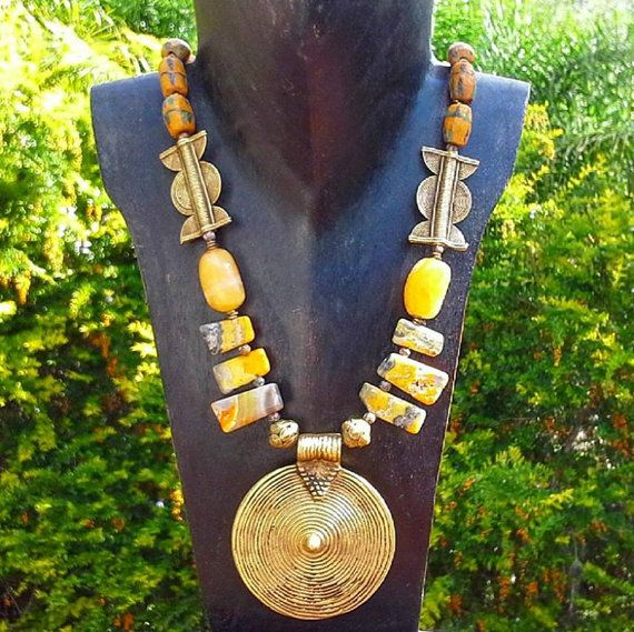 Tribal necklace from around the world by AngelsJewelleryOz on Etsy