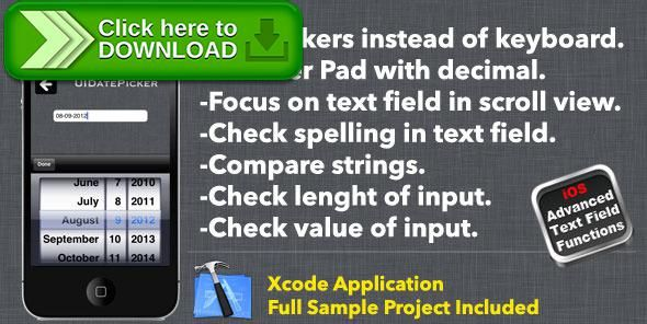 [ThemeForest]Free nulled download Text Fields with Advanced Functionality from http://zippyfile.download/f.php?id=55404 Tags: ecommerce, custom keyboard, date picker, ios, number pad, text field, textfiield, Xcode