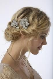 messy updo with rolling bun from side, very pretty!