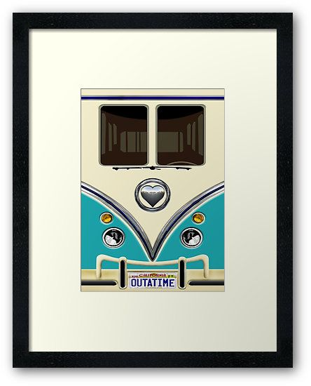 kawaii Blue teal love bug mini bus Framed Prints @pointsalestore #framedart #ArtPrints #design #art #digitalart #funny #cute #fun #lol #veedub #golf #kombi #minivan #minibus #beetle #bus #camper #retro #splitwindow #van #vintage #bumper #car #lovecar #offroad #campercar #microbus #pickup #transporter