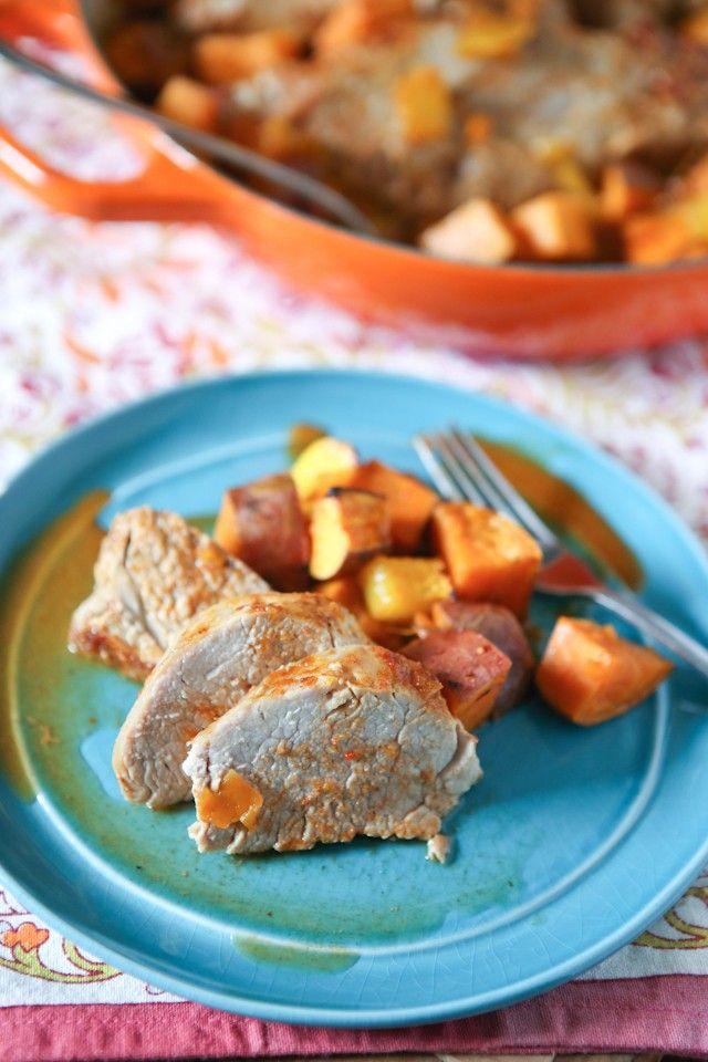 ... Roasted, Roasted Pork Tenderloins, Mango, 02015 Pork, Sweet Potatoes
