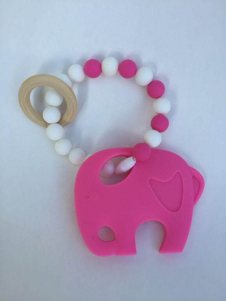 Bijtring #olifant #siliconen Kraamkado #kraamcadeau #baby #babykado #geboortekado #babykamer #babyshower op www.hummelkado.nl