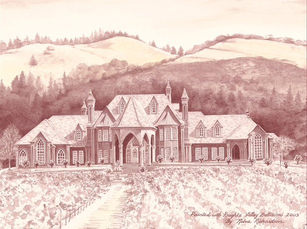 Ledson Winery Napa Valley, CA by Nelva B Richardson www.paintingwithwine.com
