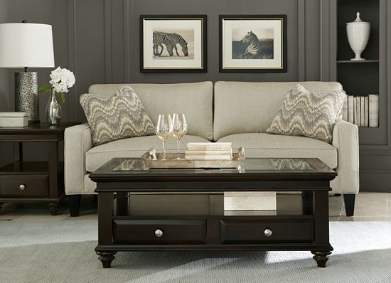 Paint A Wall Black For A Major Statement Style It With A Neutral Piece Like This Havertys