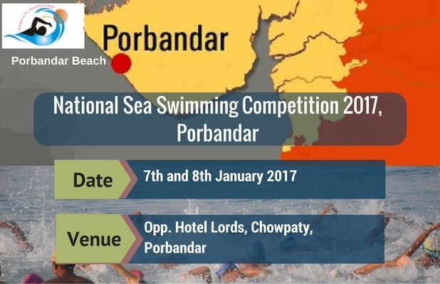 Swimmers mark your calendar with the upcoming meet! 🏊 The National Sea Swimming Competition 2017 to be organised in Porbandar Know more @ #SwimIndia #Swimmeet