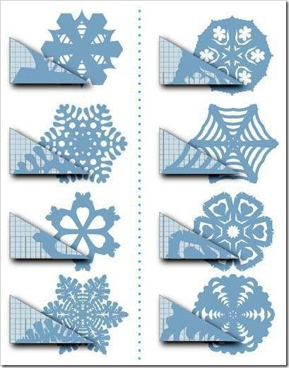Snowflake Patterns To Cut Out | How to Cut the Design into Folded Paper to Create a Snowflake