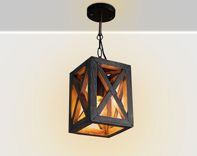 Wooden Hanging Lamp Pendant Lighting Wood Lamp Wooden Lamp Etsy In 2020 Wood Lamps Unique Hanging Lamp Contemporary Hanging Lamps