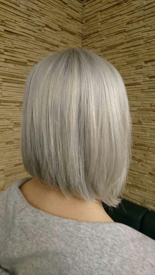 Grey Hair, Granny Look  Bob Haircut