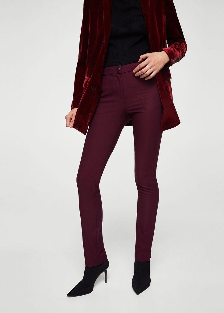 Παντελόνι σωλήνας βαμβακερό | MANGO ΜΑΝΓΚΟ