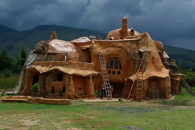 """""""The biggest piece of pottery in the world"""" -Casa Terracotta - Villa de Leyva, Colombia by meckleychina, via Flickr"""