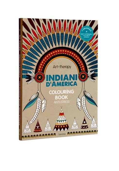 """#mandala #arttherapy  """"INDIANI D'AMERICA"""" Apache, Cherokee, Cheyenne e Sioux, Navajo, Irochesi e Algonchini…  Le tribù degli Indiani d'America ci a ascinano non solo per la saggezza ma anche per il loro legame indissolubile con la natura e gli animali. Il loro ricco universo di simboli si esprime attraverso il corpo: tatuaggi, abiti in pelli dipinte, oggetti ornamentali di uso quotidiano.  Entrate nel rituale degli Indiani d'America, riscoprendo i colori di un mondo intriso di spiritualità."""