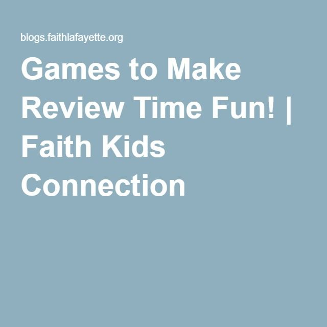 Games to Make Review Time Fun! | Faith Kids Connection