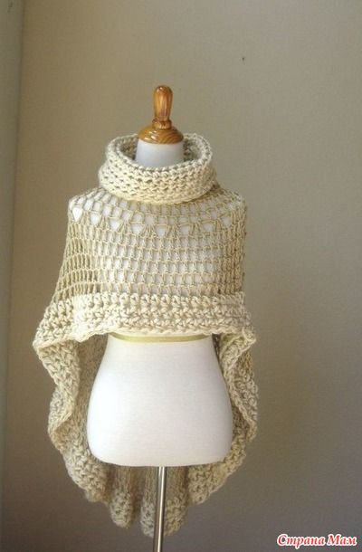 Several interesting crochet poncho. Add.