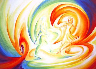 "Saatchi Online Artist Brian Sal Corral; Painting, ""Lets Dance"" #art"