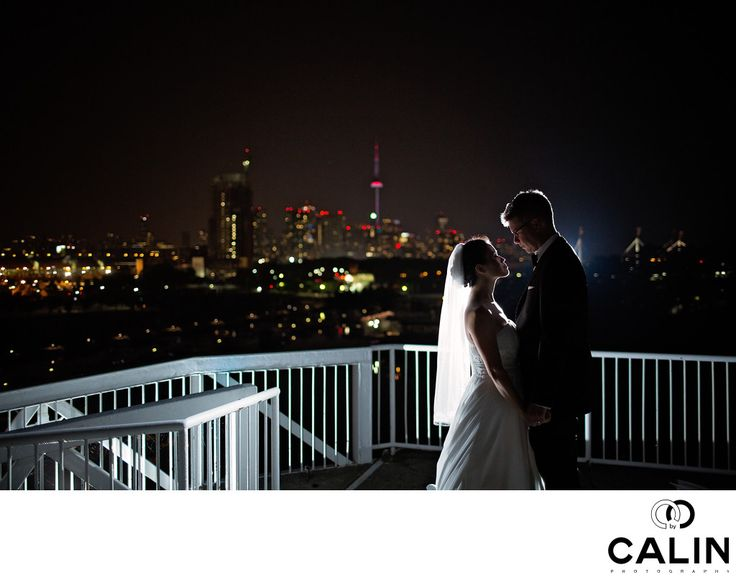 Photography by Calin - Atlantis Toronto Wedding Portrait of Bride and Groom:   Location: 955 Lake Shore Blvd W, Toronto, ON M6K 3B9.