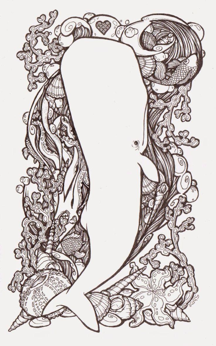 Whale ~ Shroo's World: Pen & Ink