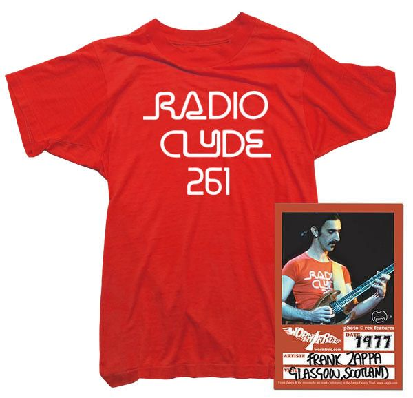 Frank Zappa T-Shirt - Radio Clyde Tee worn by Frank Zappa