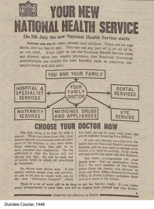 This newspaper advert introduced the National Health Service to the UK on this day in 1948: