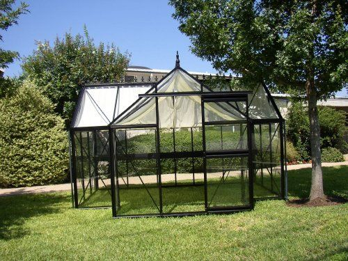 Junior Orangerie J-ORA 116 Square Foot Greenhouse by Exaco Trading Company. $5700.00. Greenhouse comes with one sliding door, two roof vents. Included safety glass is 4 mm thick. Greenhouse is T-shape with 116 square foot of space.. The Junior Orangerie Greenhouse is one of the premier greenhouses in the line of greenhouses from Janssens of Belgium. The Junior Victorian Greenhouse not only provides a first class quality greenhouse environment, it also adds significant old fashio...
