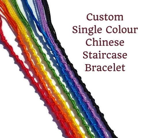 Custom Single Color String Bracelet Solid by JuliasForgetMeKnots