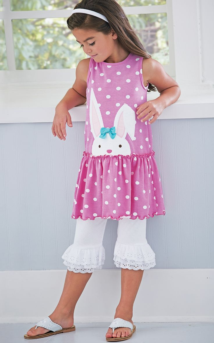 From CWDkids: Bunny Dress & Ruffle Capris