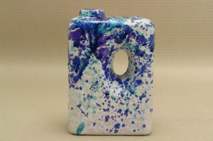 Roth Keramik dripping glaze chimney vase