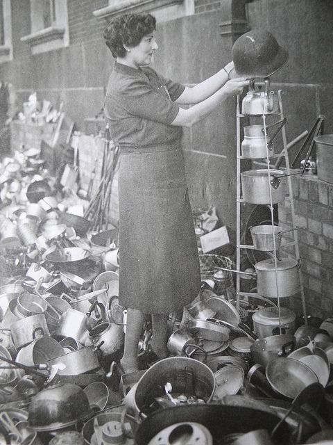 Collecting aluminium - UK - World War II - 1940