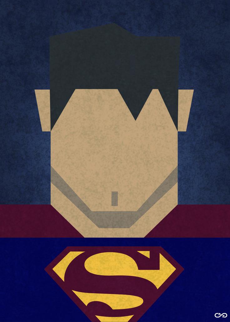 Cartel minimalista Superman by slafifi