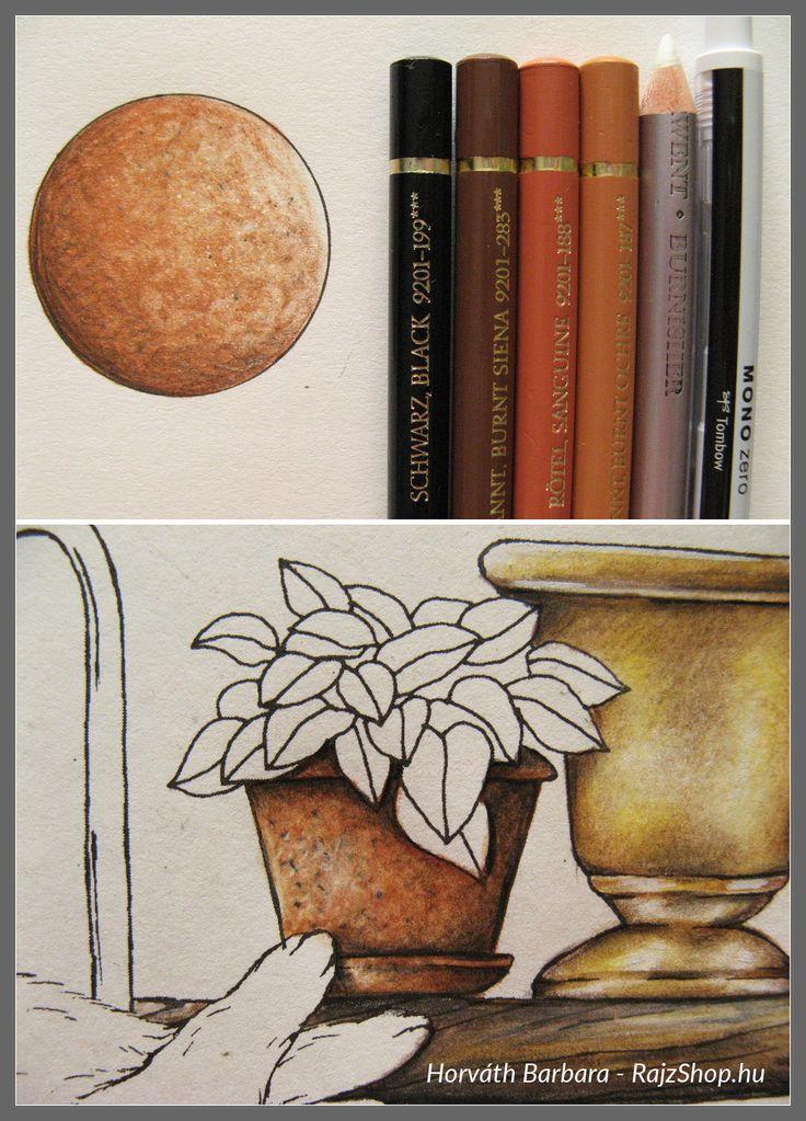 Agyag felület rajzolása, színzése