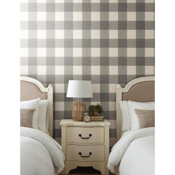 Magnolia Home By Joanna Gaines Common Thread Black On White Premium Peel And Stick Wallpaper Roll Covers 34 Sq Ft Psw1000rl The Home Depot In 2021 Magnolia Homes Home Wallpaper Stripped Wallpaper